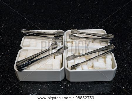 Sugar Tongs, Ceramic Cup