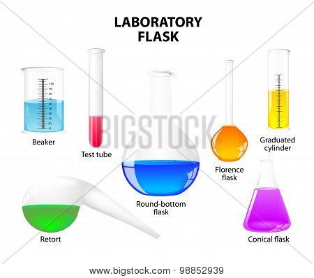 Laboratory Flask On White Background