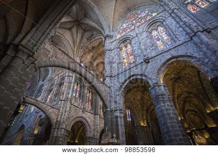 Inside View Of The Cathedral In Avila