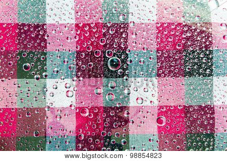 Water Drops Background. Water Drops. Water Drops of Square Colorful Pattern Background