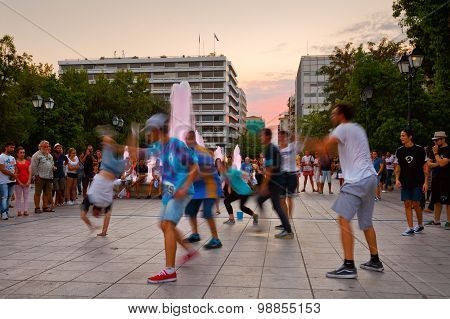 Dancers in Syntagma square.