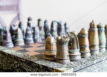 Chess Set By Window
