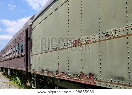 Two Old Train Cars