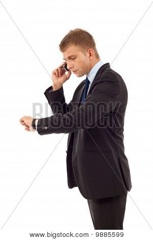 Checking Time And Talking To A Phone