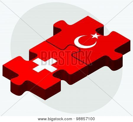 Switzerland And Turkey Flags