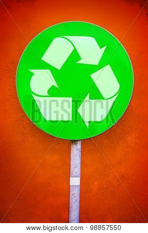 Recycle Symbol Green Sign
