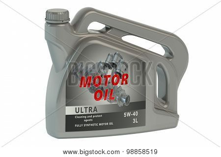 Gray Canister Motor Oil