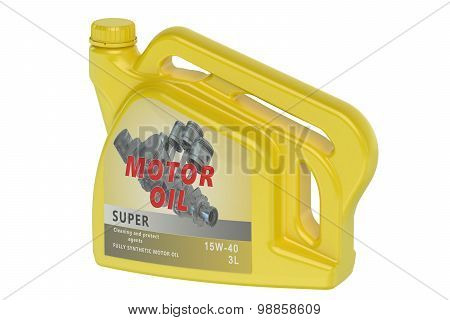 Yellow Canister Motor Oil