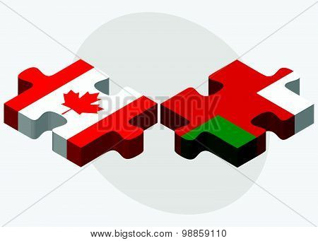 Canada And Oman Flags