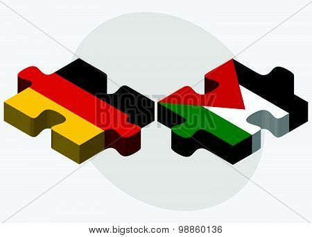 Germany And Palestine Flags