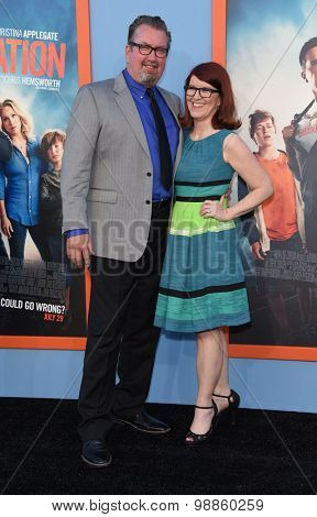 LOS ANGELES - JUL 27:  Kate Flannery & Chris Haston arrives to the