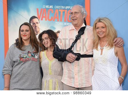 LOS ANGELES - JUL 27:  Chevy Chase arrives to the