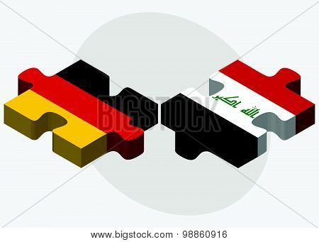 Germany And Iraq Flags