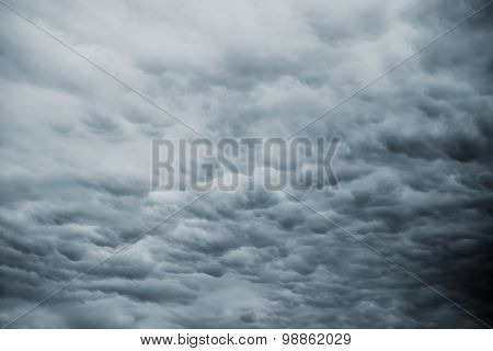Dark Storm Sky With Rainy Clouds