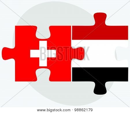 Switzerland And Yemen Flags