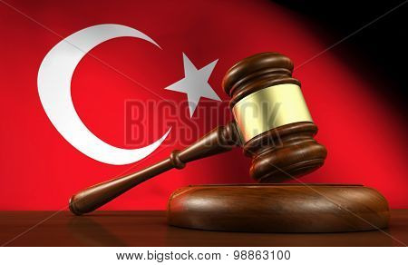 Turkish Law Legal System Concept