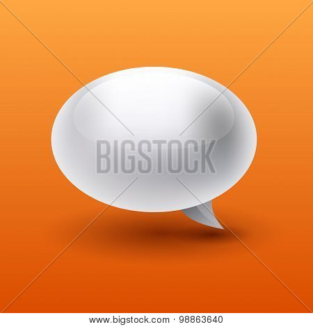 3D Vector Abstract Bubble Isolated