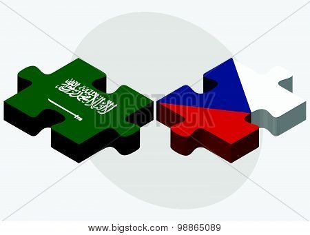 Saudi Arabia And Czech Republic Flags