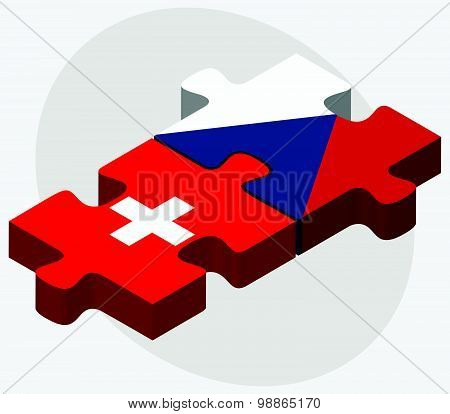 Switzerland And Czech Republic Flags