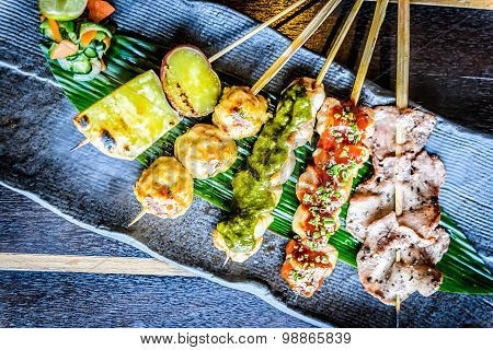 Kushiyaki 5 Kinds Moriawase Chef's choice of 5 kinds skewers