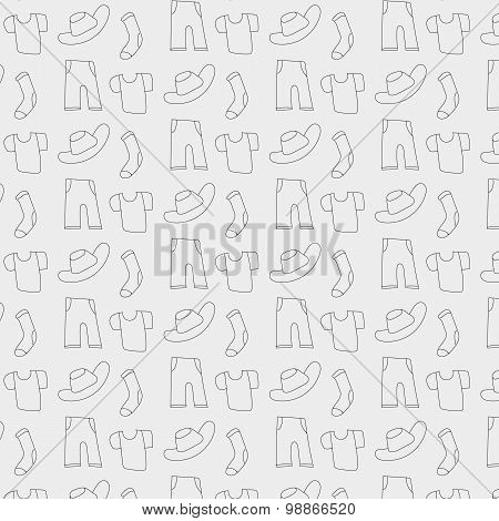 Pattern Of Clothes Icons, Background