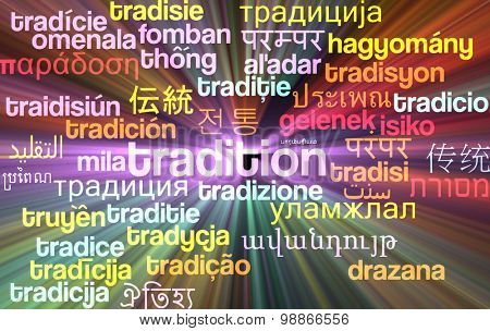 Background concept wordcloud multilanguage international many language illustration of tradition glowing light
