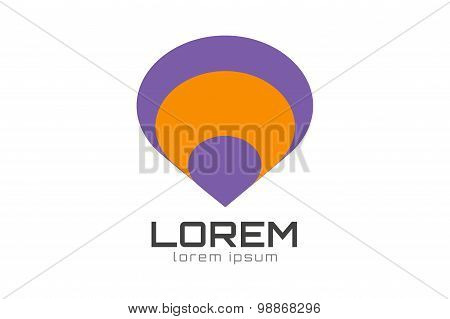 Vector circle dome logo design template. Abstract pyramid cones icon. Ramazan, mubarak, religion or