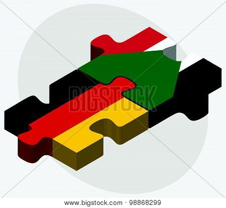 Germany And Sudan Flags