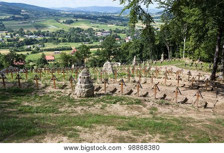 The old military cemetery form first world war in Luzna Pustki- battle of Gorlice - Poland