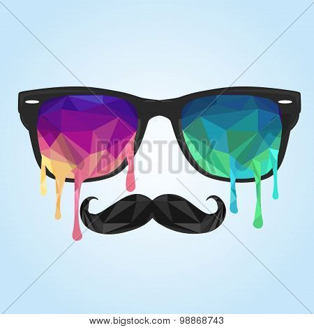 Glass Polygon, Mustache Polygon