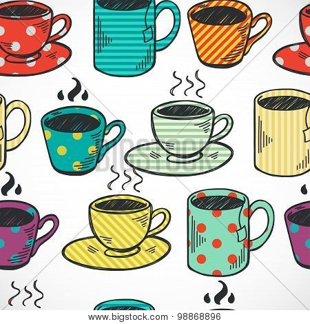 Cups And Mugs Pattern
