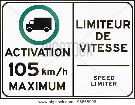 Speed Limiter Activation In Canada