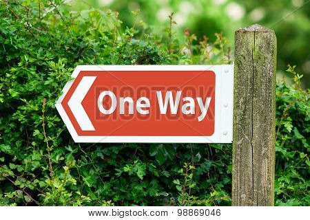 Direction Arrow, Sign To One Way in Red Color