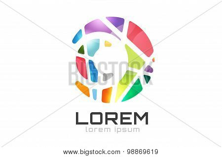 Vector circle ring logo design. Abstract flow icon template