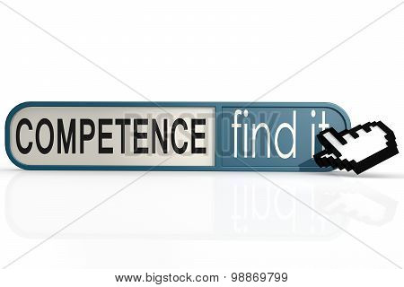 Competence Word On The Blue Find It Banner