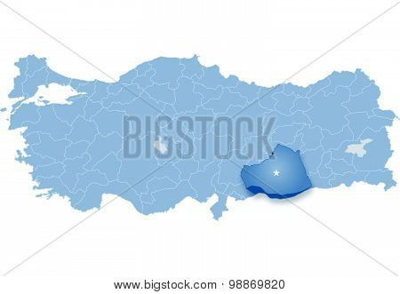 Map Of Turkey, Sanliurfa