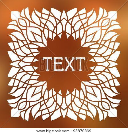 Vector Frame With Space For Text