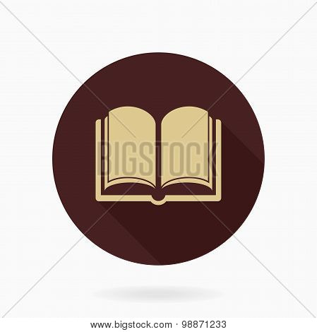 Fine Vector Flat Icon With Book