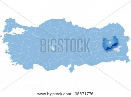 Map Of Turkey, Mus