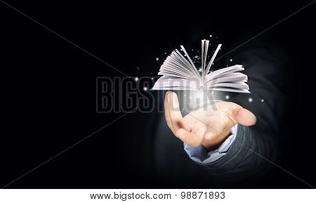 Book in hand