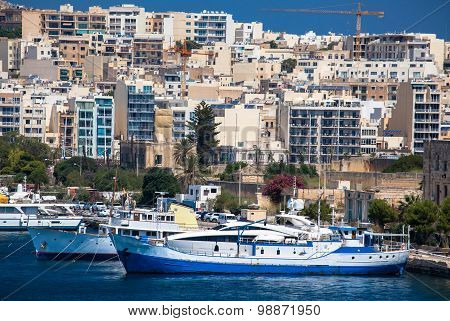 Port At City Valletta, Malta