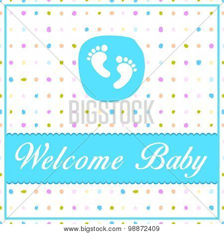 Baby Shower Card - Illustration - Eps 10