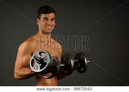 Athlete young man exercisese