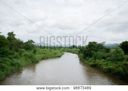 River In Pai District, Thailand
