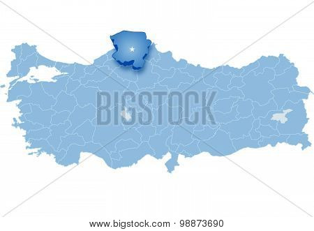 Map Of Turkey, Kastamonu