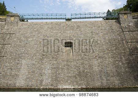 Poland, Miedzygorze, dam in a mountain valley, draining excess water, natural energy,