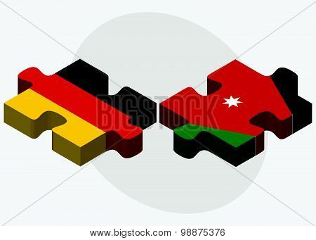 Germany And Jordan Flags