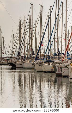 Sailboats At Pendik Marina, Istanbul Turkey