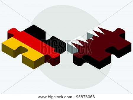 Germany And Qatar Flags