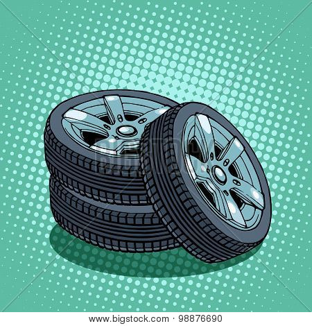 Tires spare wheel
